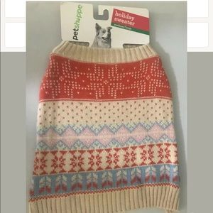 Dog Holiday Sweater Medium/Large 20-35 Lbs New